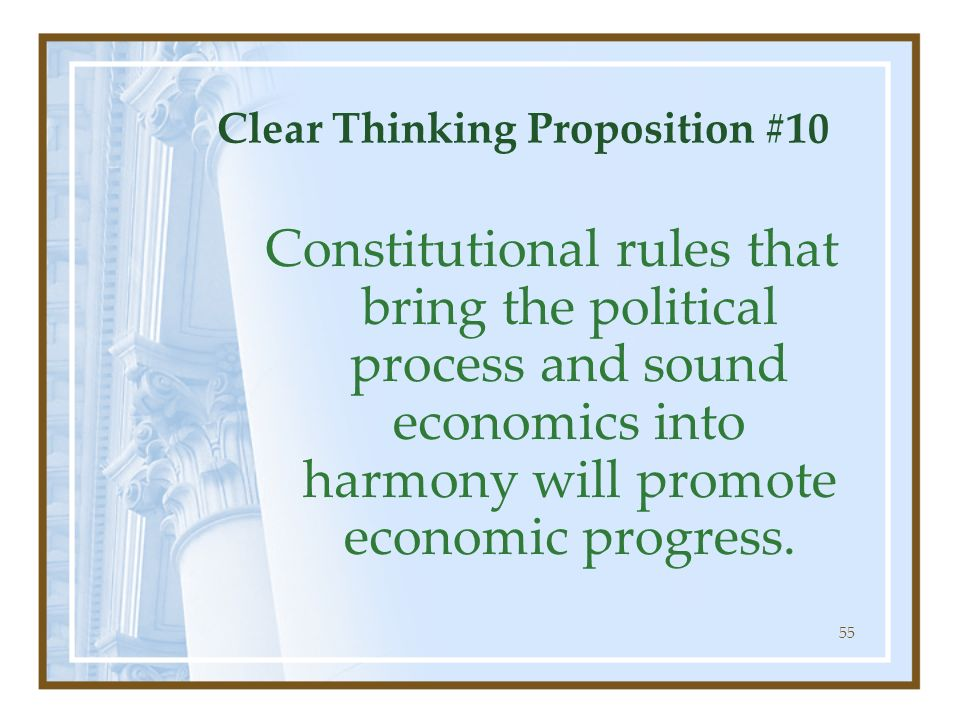 Clear Thinking Proposition #10