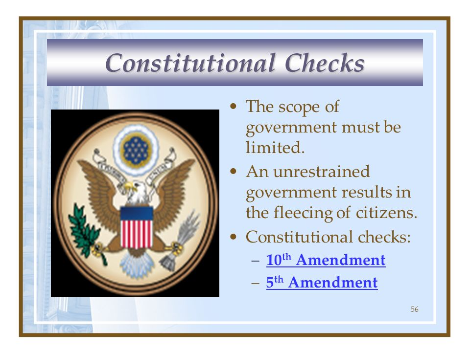 Constitutional Checks