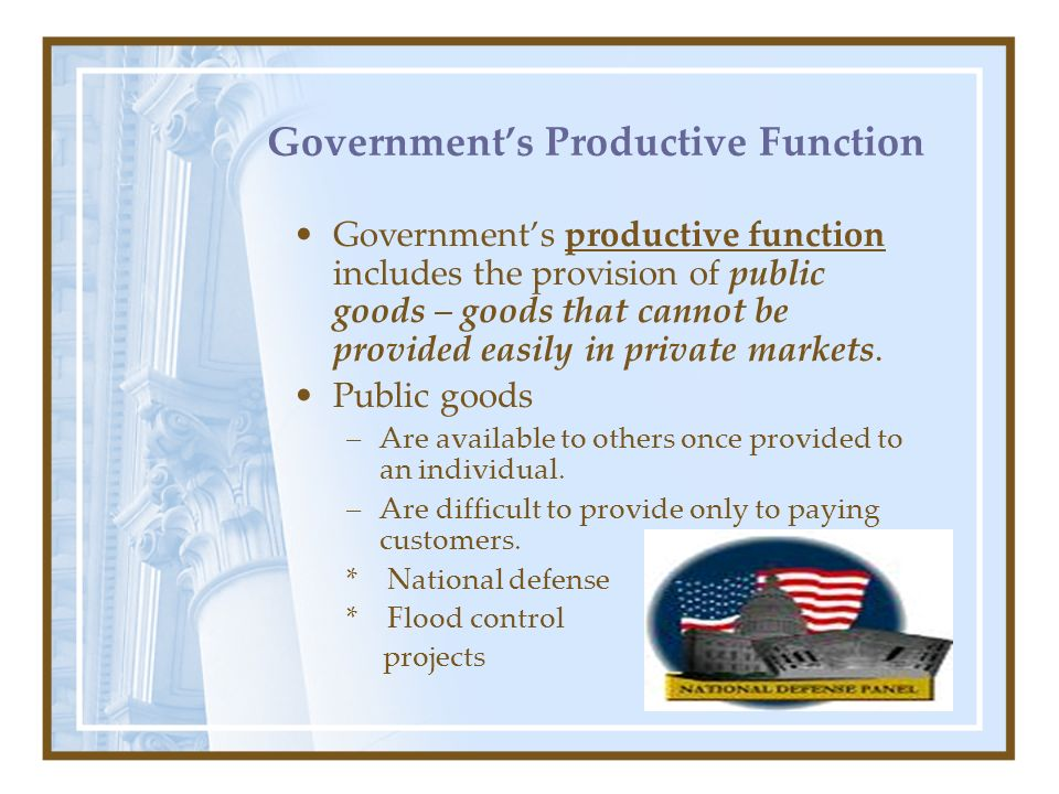 Government's Productive Function