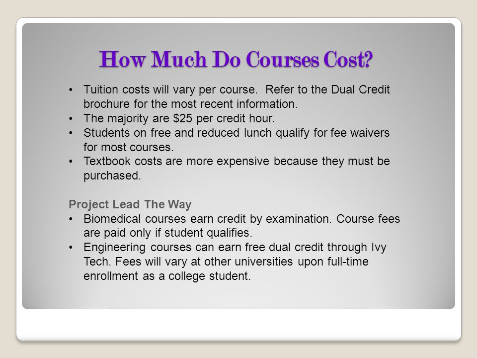 How Much Do Courses Cost