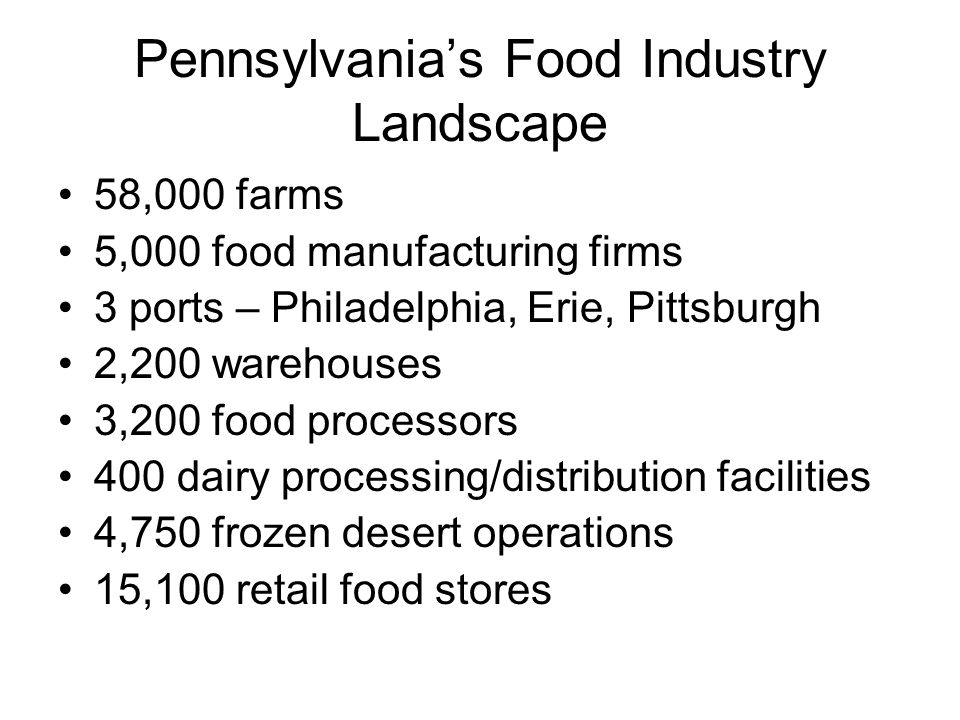 Pennsylvania's Food Industry Landscape