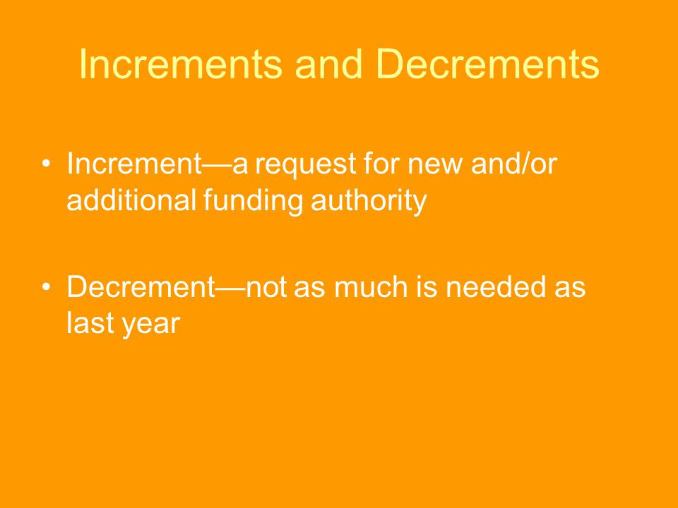 Increments and Decrements