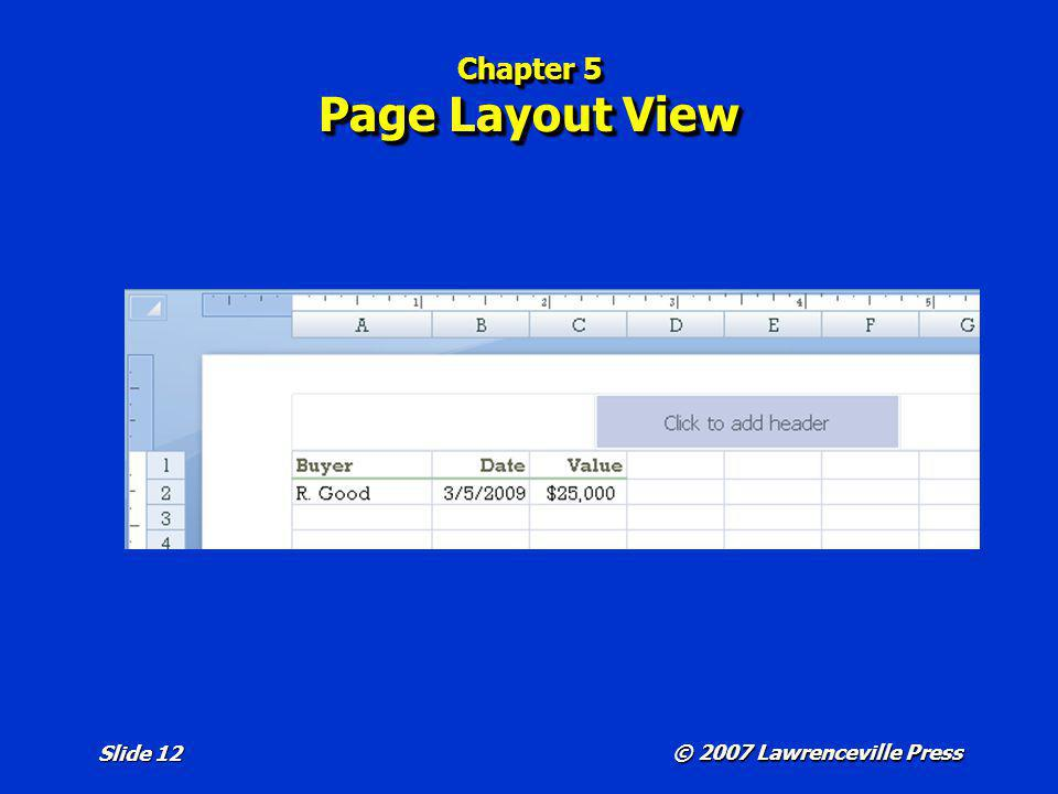 Chapter 5 Page Layout View