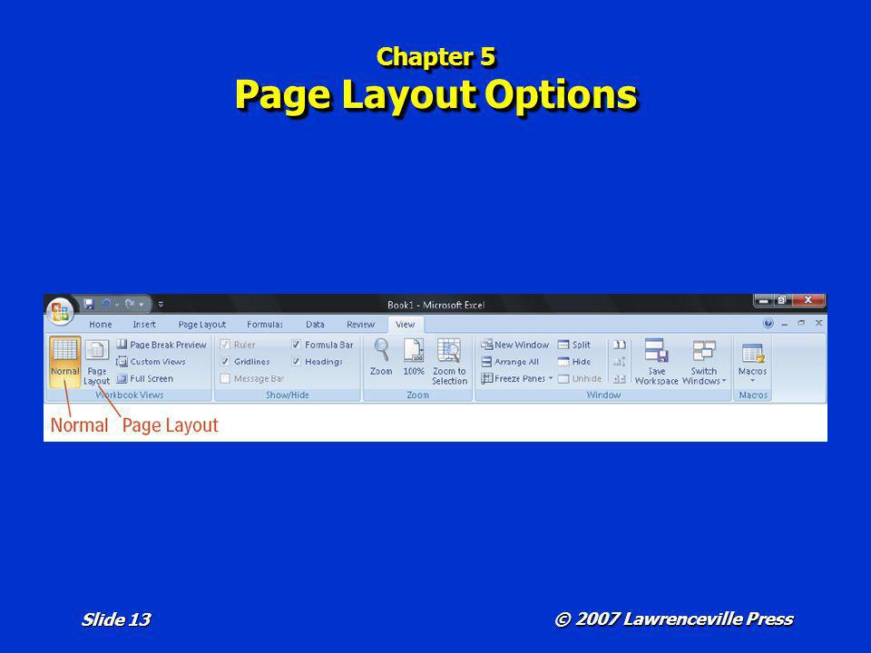 Chapter 5 Page Layout Options