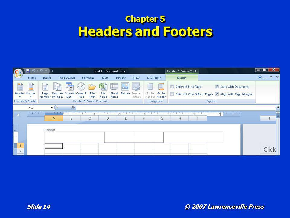 Chapter 5 Headers and Footers