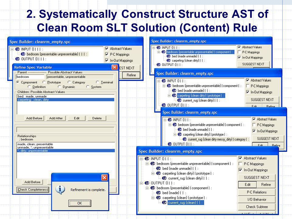 2. Systematically Construct Structure AST of Clean Room SLT Solution (Content) Rule