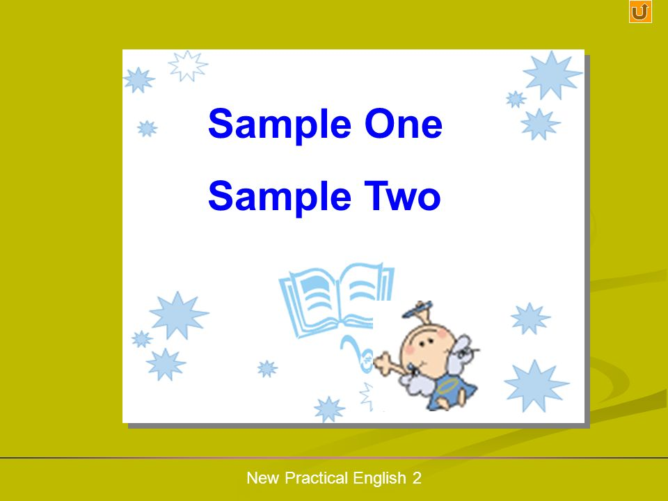 Sample One Sample Two New Practical English 2