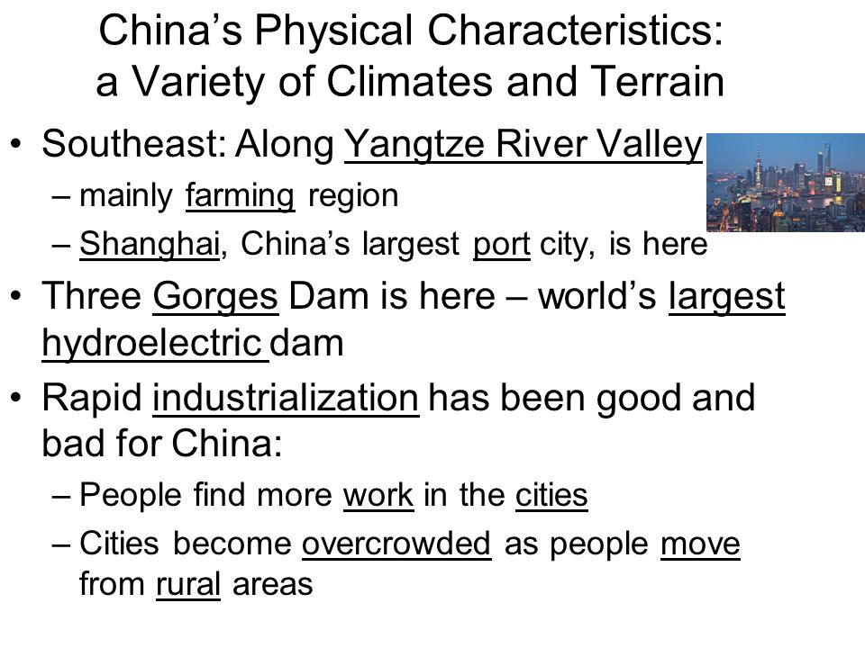China's Physical Characteristics: a Variety of Climates and Terrain