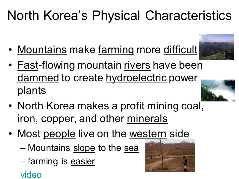 North Korea's Physical Characteristics