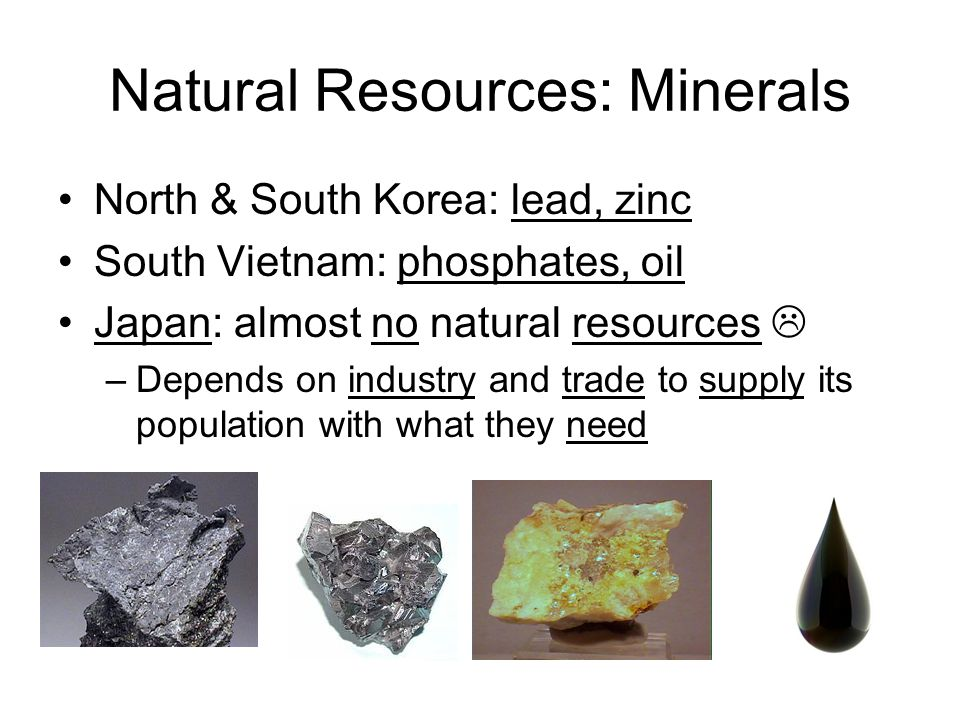 Natural Resources: Minerals