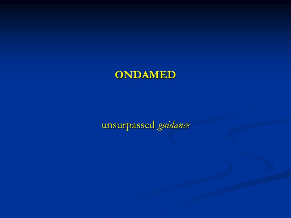 ONDAMED unsurpassed guidance