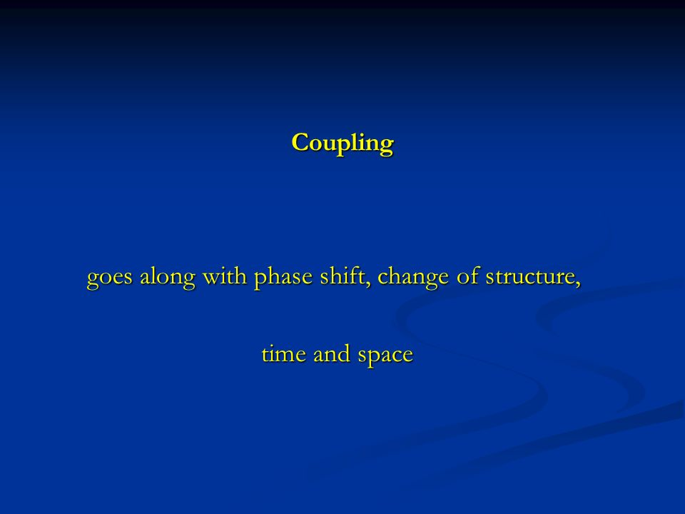 goes along with phase shift, change of structure,