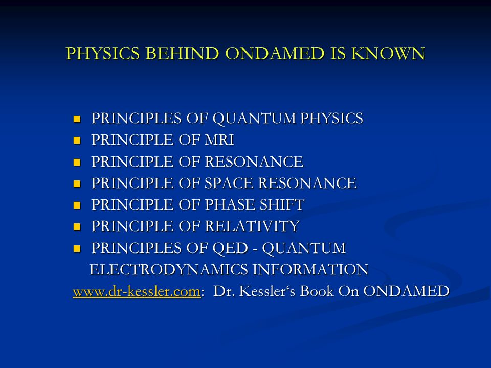 PHYSICS BEHIND ONDAMED IS KNOWN