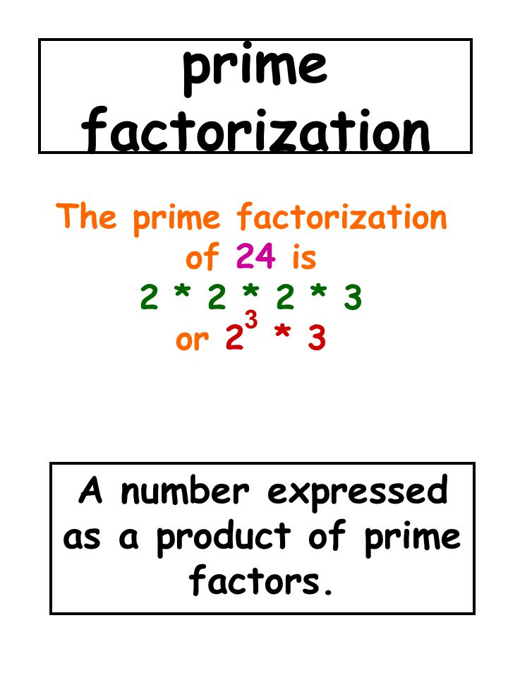 A number expressed as a product of prime factors.