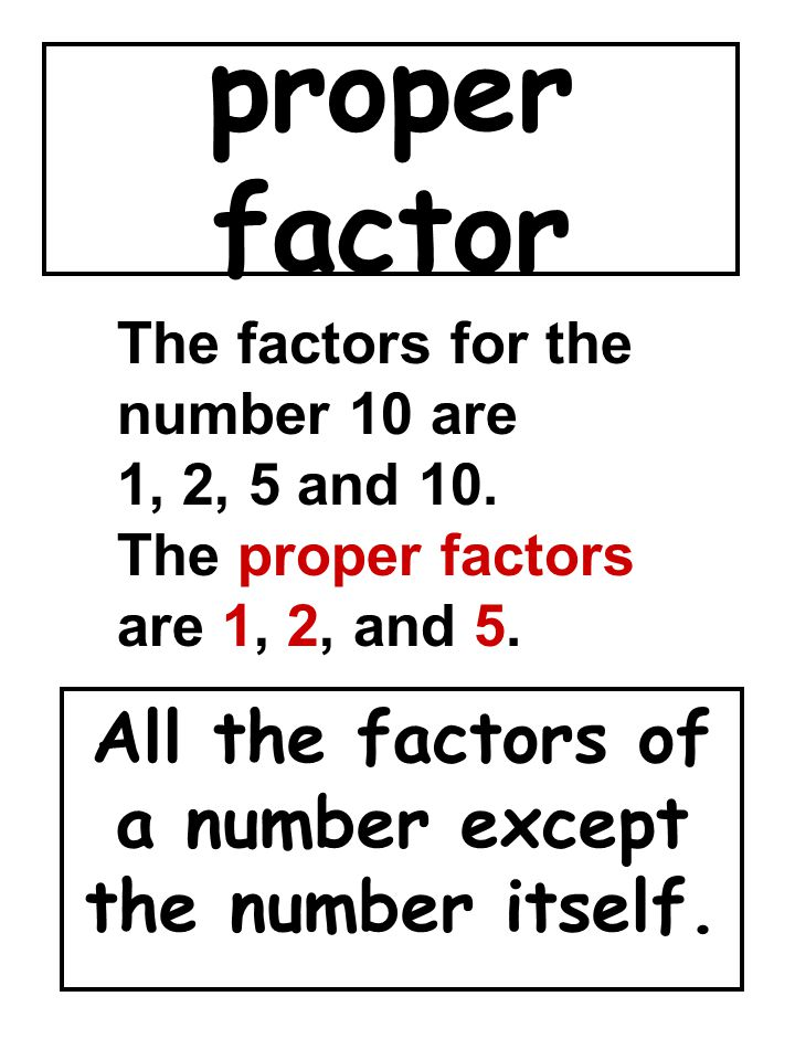 All the factors of a number except the number itself.