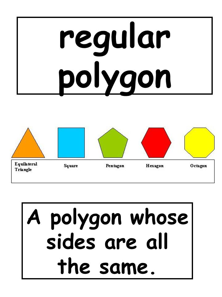 A polygon whose sides are all the same.