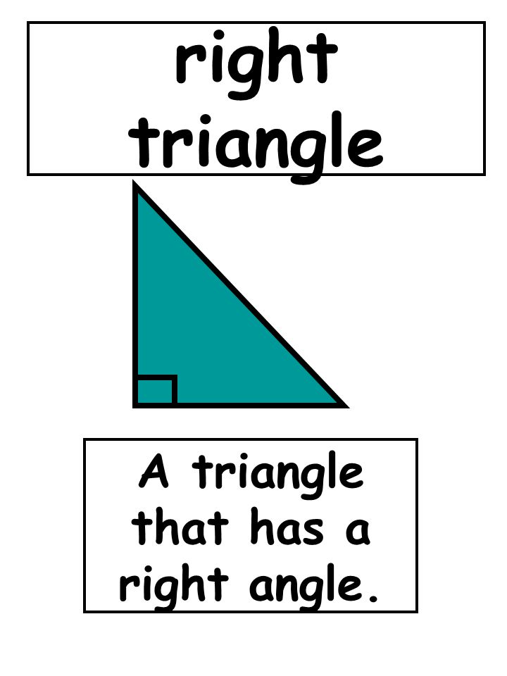 A triangle that has a right angle.