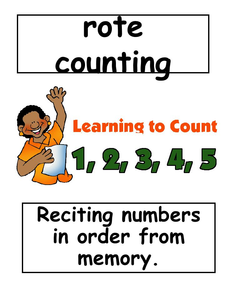 Reciting numbers in order from memory.