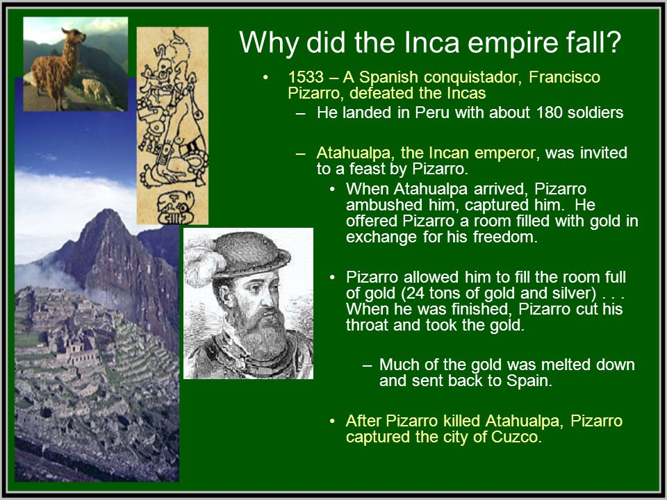Why did the Inca empire fall