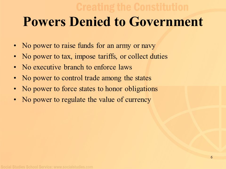 Powers Denied to Government