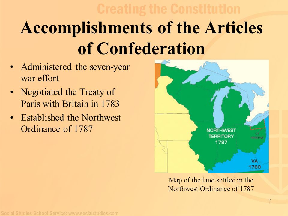Accomplishments of the Articles of Confederation