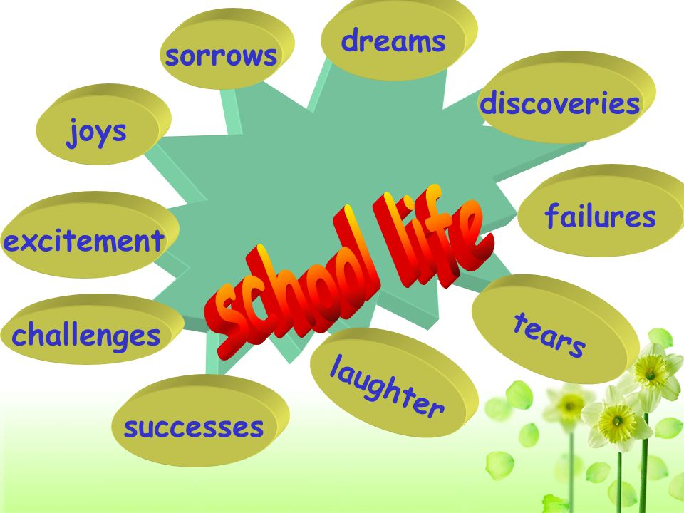 school life dreams sorrows discoveries joys failures excitement tears