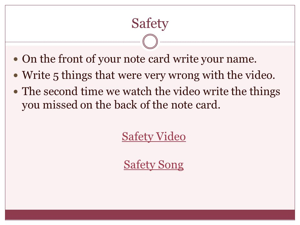 Safety Safety Video Safety Song