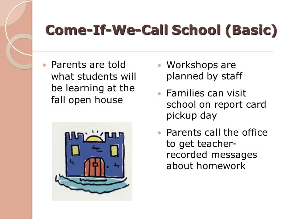Come-If-We-Call School (Basic)