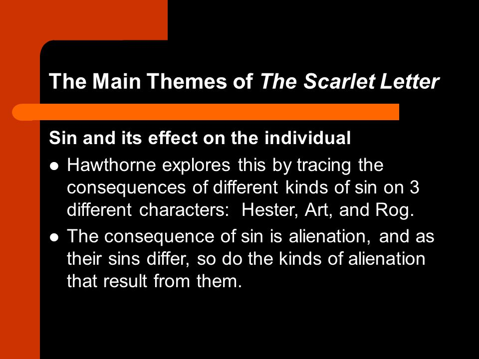 The Main Themes of The Scarlet Letter