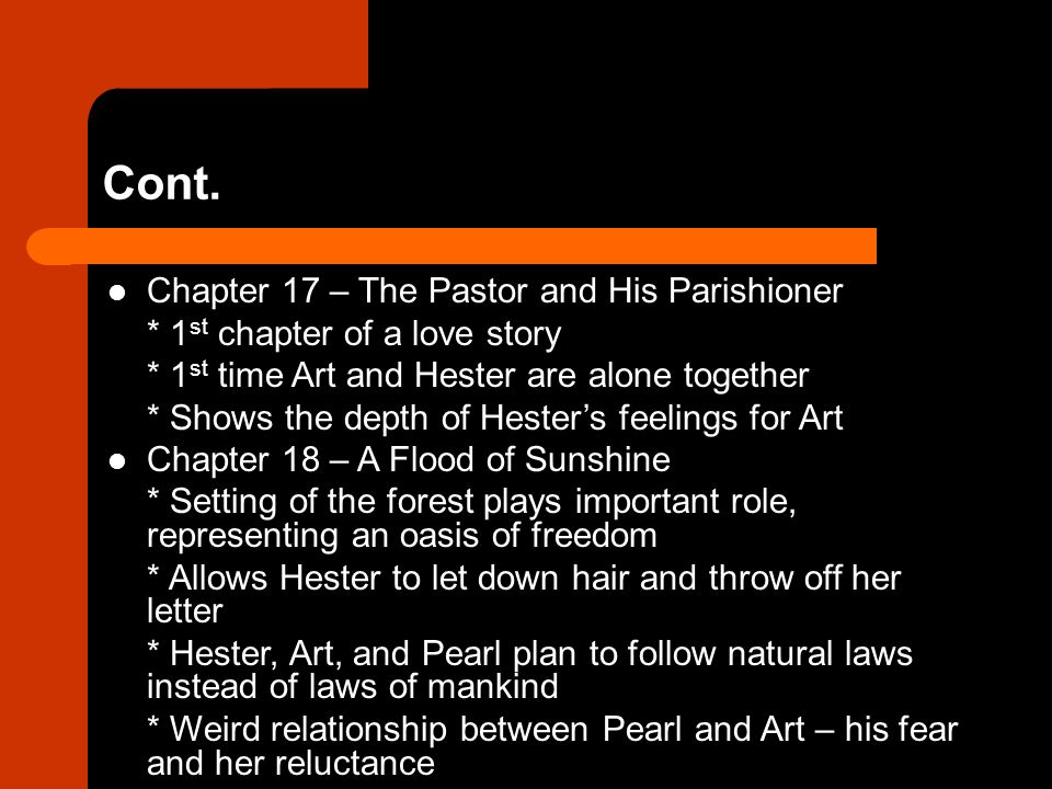 Cont. Chapter 17 – The Pastor and His Parishioner