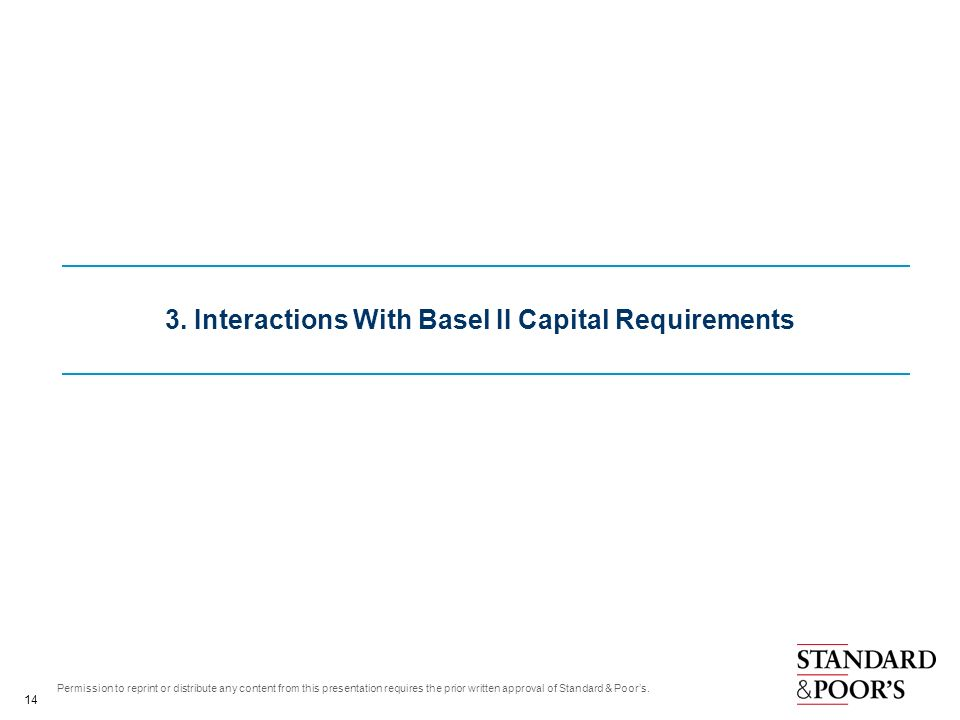 3. Interactions With Basel II Capital Requirements