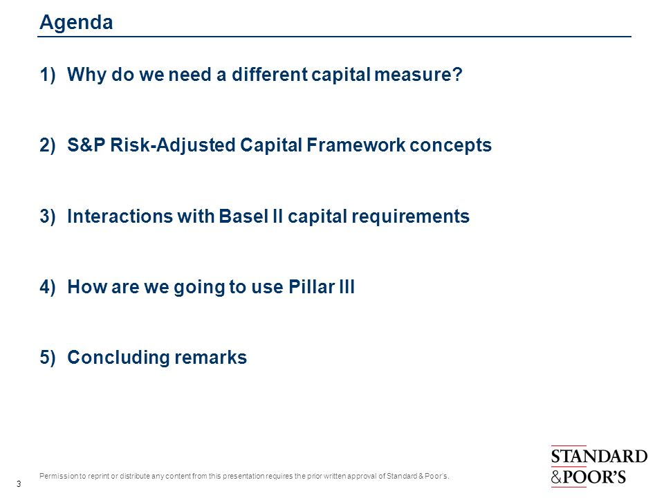 Agenda Why do we need a different capital measure