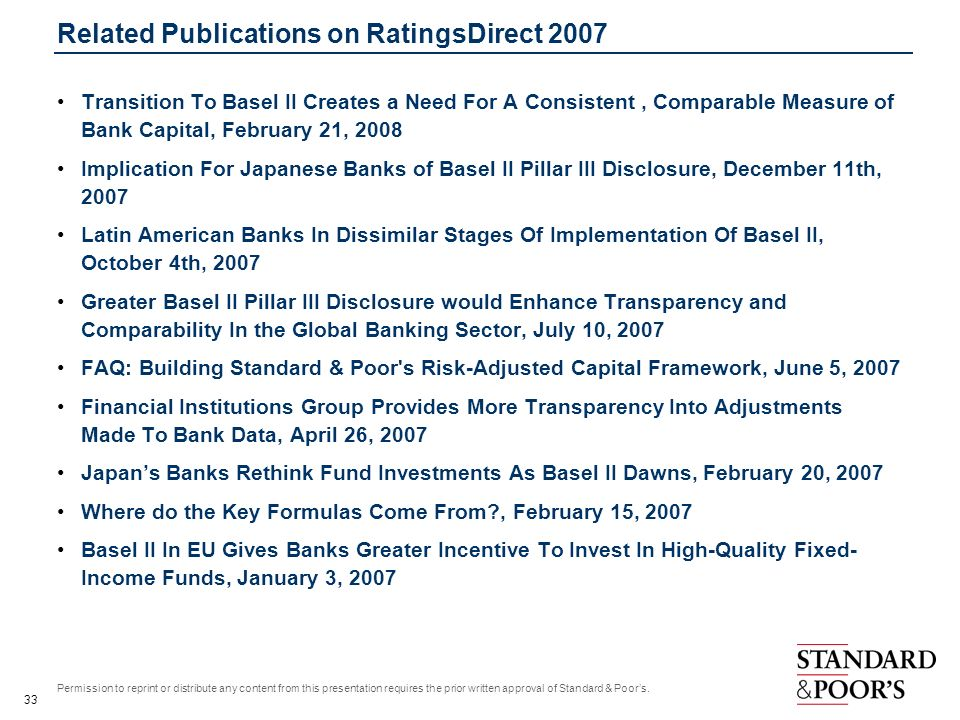 Related Publications on RatingsDirect 2007