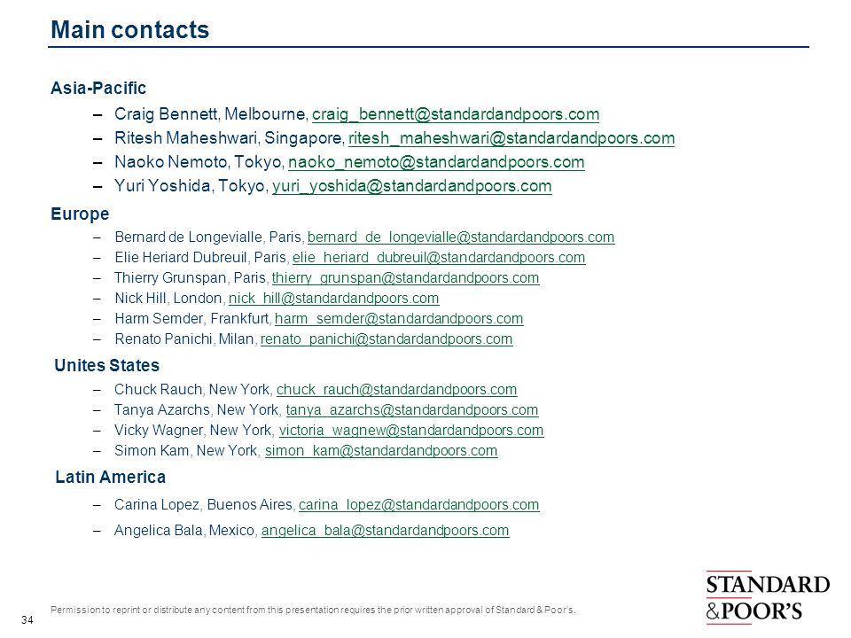 Main contacts Asia-Pacific