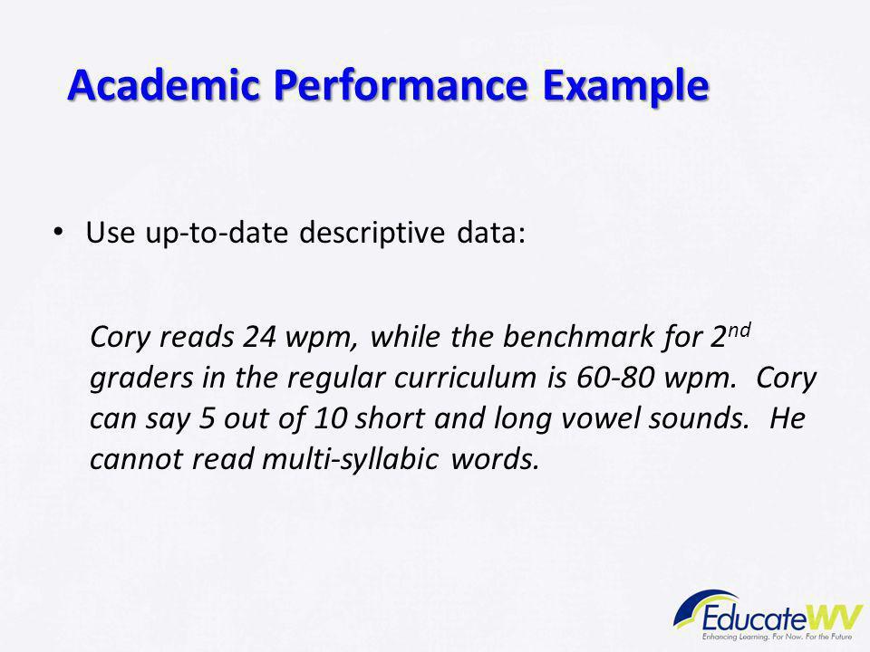 academic performance examples