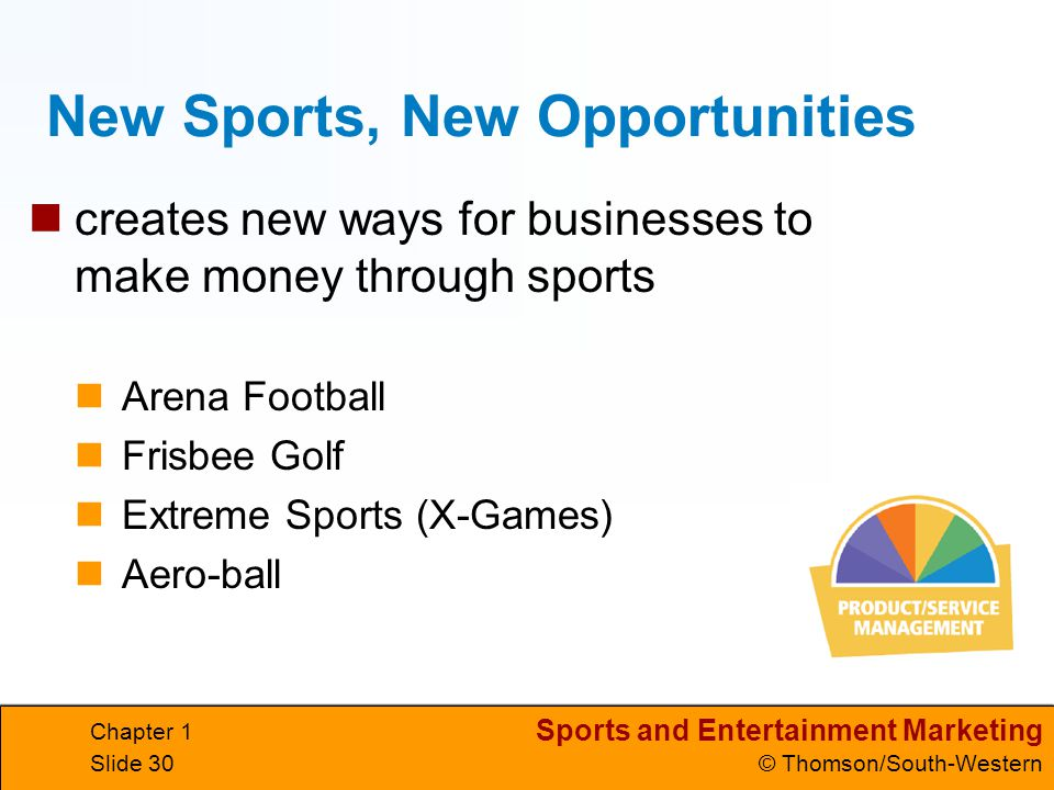 New Sports, New Opportunities