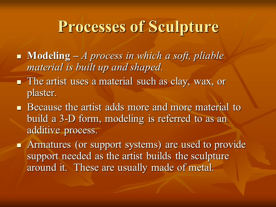 Processes of Sculpture