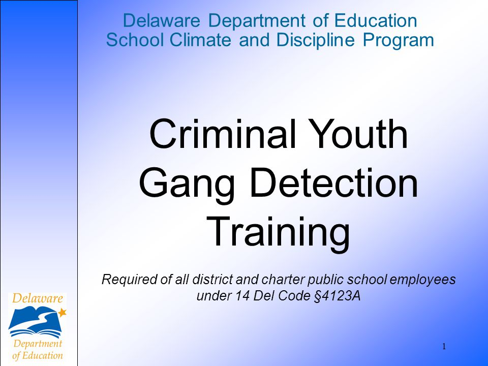Delaware Department of Education School Climate and Discipline Program