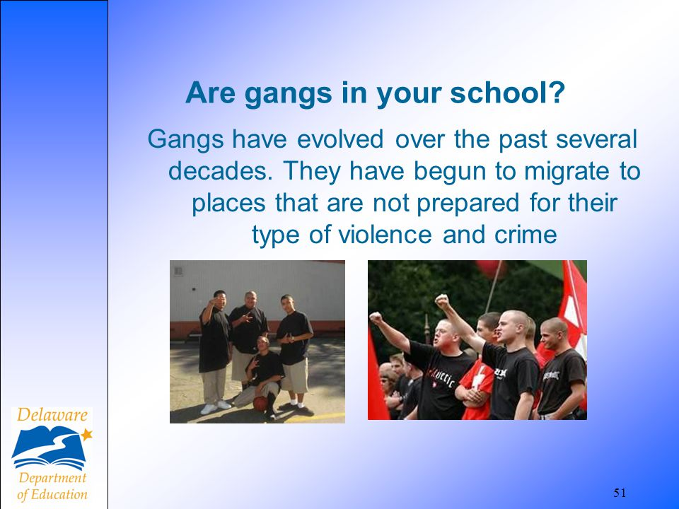 Are gangs in your school