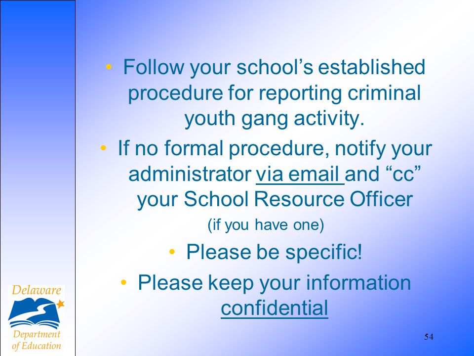 Please keep your information confidential
