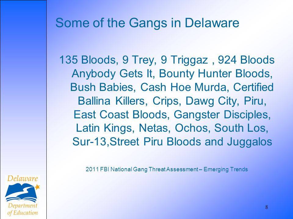 Some of the Gangs in Delaware