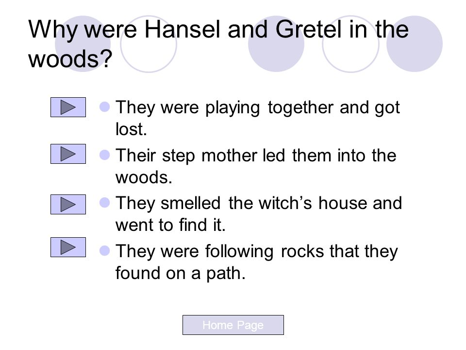 Why were Hansel and Gretel in the woods