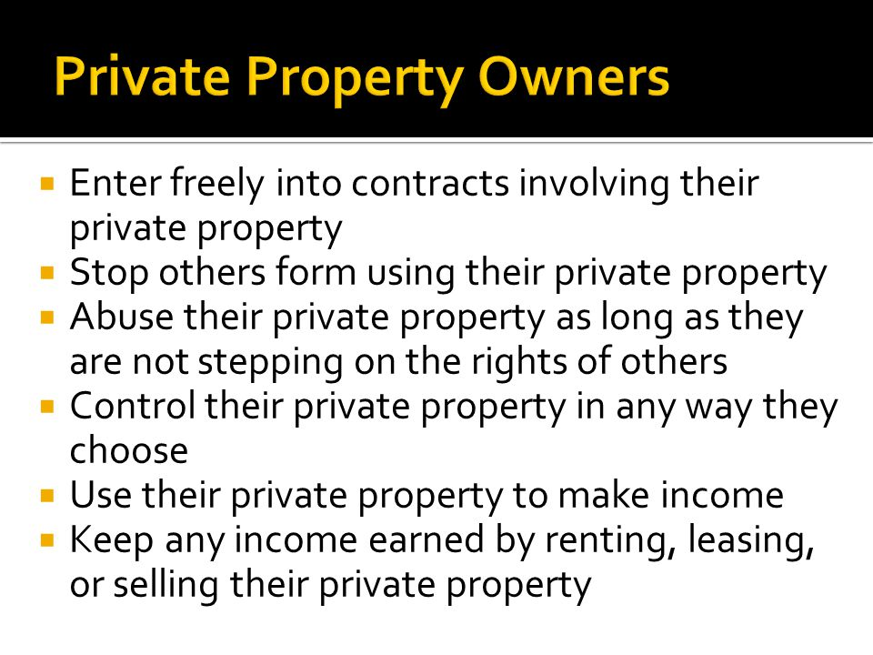 Private Property Owners