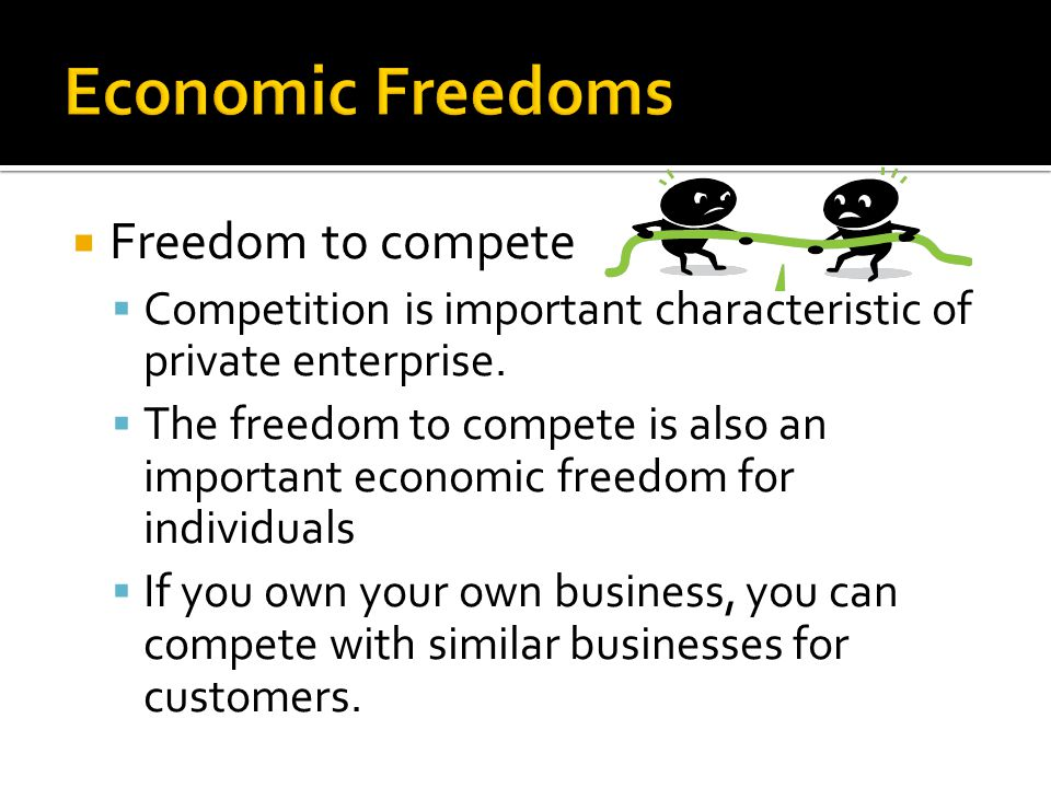 Economic Freedoms Freedom to compete