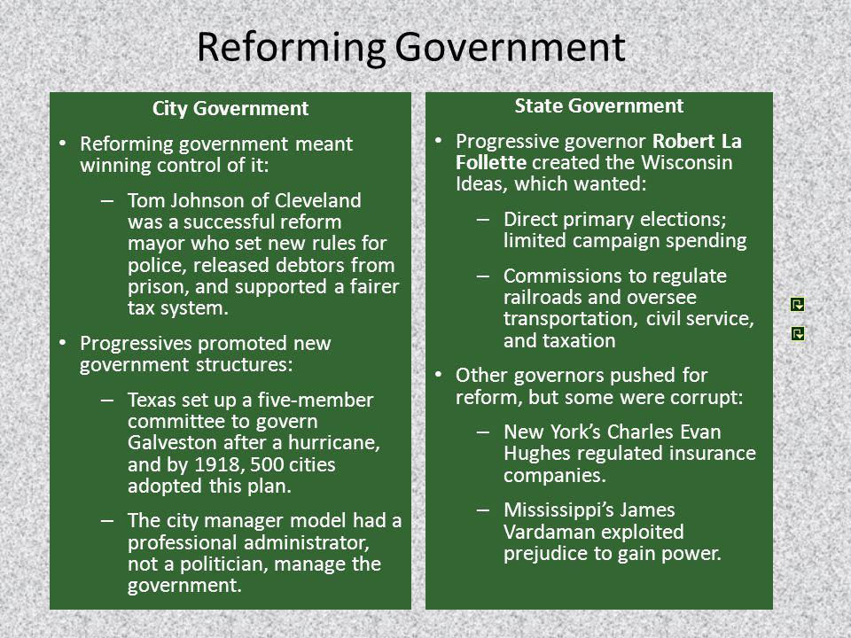 Reforming Government City Government