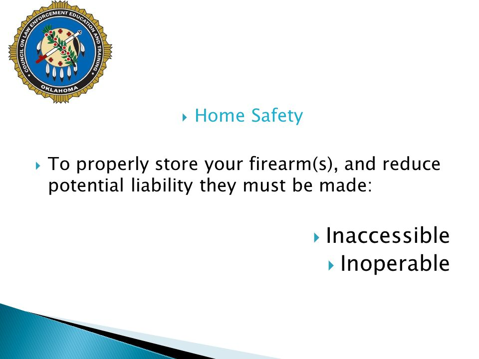 Inaccessible Inoperable Home Safety