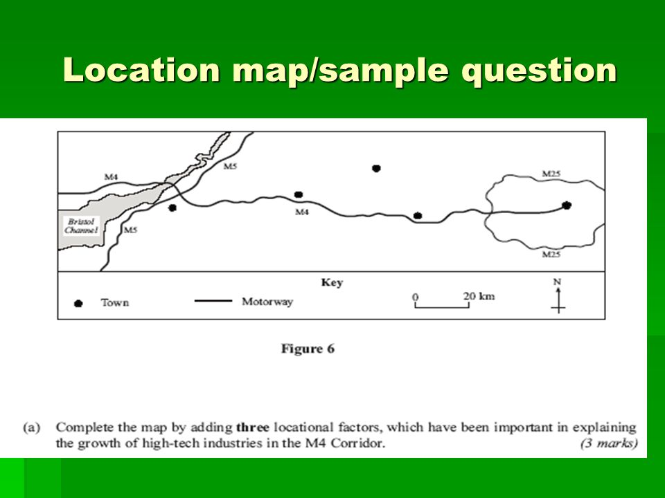 Location map/sample question