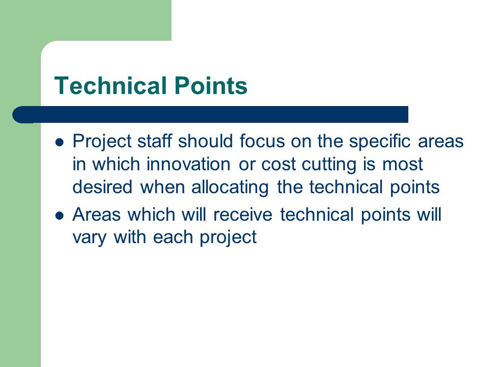 Technical Points