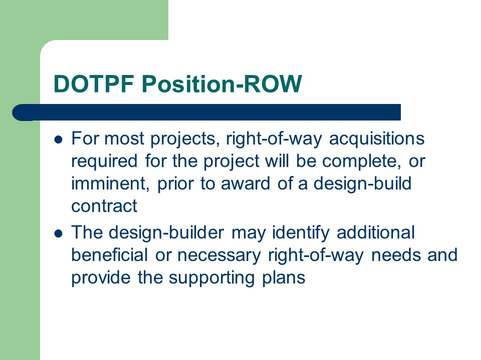 DOTPF Position-ROW