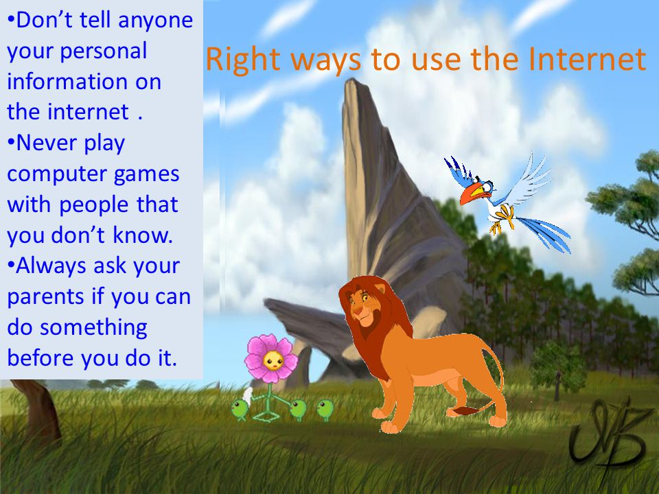 Right ways to use the Internet
